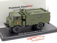 GAZ 66 Funkkoffer R-142 NVA truck militair voertuig donker olijf 1:43 Premium ClassiXXs