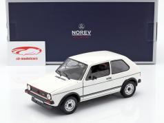 Volkswagen VW Golf I GTi année de construction 1976 blanc 1:18 Norev