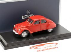 Citroen 2CV Dagonet Bouwjaar 1956 rood 1:43 Norev