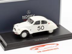 Citroen 2CV Dagonet #50 Rallye des Charentes 1956 hvid 1:43 Norev