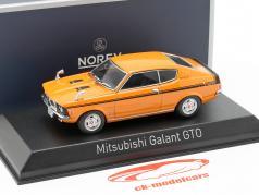Mitsubishi Galant GTO construido en 1970 naranja 1:43 Norev