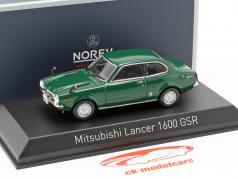 Mitsubishi Lancer 1600 GSR year 1973 dark green 1:43 Norev