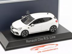 Renault Clio R.S. Line Opførselsår 2019 perle hvid 1:43 Norev