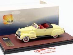 Cadillac V16 converteerbaar coupe Open Top Bouwjaar 1938 crème geel 1:43 GLM