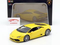 Lamborghini Huracan LP610-4 Year 2014 yellow 1:18 Bburago