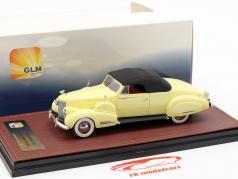 Cadillac V16 converteerbaar coupe Closed Top Bouwjaar 1938 crème geel 1:43 GLM