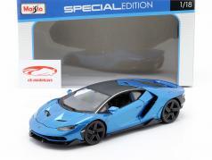 Lamborghini Centenario LP770-4 Bouwjaar 2016 blauw metalen 1:18 Maisto
