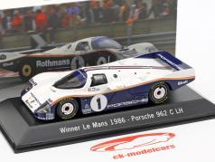 Porsche 962 C LH #1 Gagnant 24 LeMans 1986 Bell / Stuck / Holbert 1:43 Spark