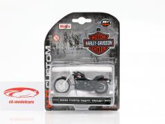 Harley-Davidson FXSTB Night Train Opførselsår 2002 sort 1:24 Maisto