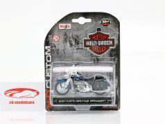 Harley-Davidson FLSTS Heritage Springer Bouwjaar 2001 zwart / blauw 1:24 Maisto