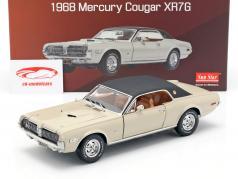 Mercury Cougar XR7G ano de construção 1968 bege / preto 1:18 SunStar