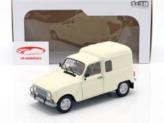Renault 4LF4 year 1975 cream white 1:18 Solido
