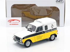Renault 4LF4 service Renault 1975 yellow / White / black 1:18 Solido