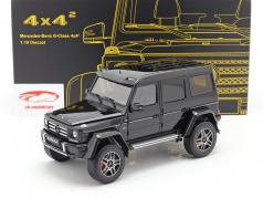 Mercedes-Benz G-classe 4x4² obsidian preto 1:18 Almost Real