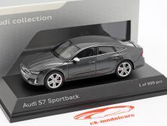Audi S7 Sportback daytona grijs 1:43 Jaditoys