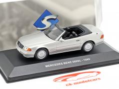 Mercedes-Benz 500SL (R129) year 1989 silver metallic 1:43 Solido