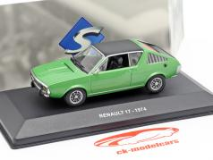 Renault 17 year 1974 green metallic / black 1:43 Solido