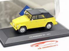 Volkswagen VW 181 The Thing ano de construção 1971 amarelo / preto 1:43 Solido