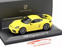 Porsche 718 (982) Cayman GT4 Baujahr 2019  gelb 1:43 Minichamps
