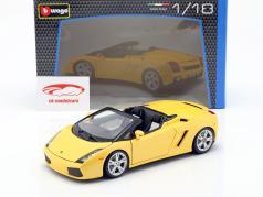 Lamborghini Gallardo Spyder yellow 1:18 Bburago