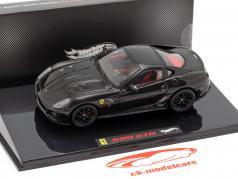 Ferrari 599 GTO zwart 1:43 HotWheels Elite