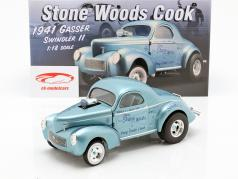 Willys Gasser Swindler II Stone Woods & Cook 1941 bleu 1:18 GMP