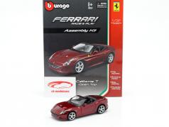 Ferrari California T Open Top dark red Assembly Kit 1:32 Bburago