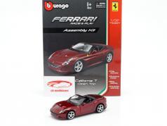 Ferrari California T Open Top scuro rosso montaggio kit 1:32 Bburago