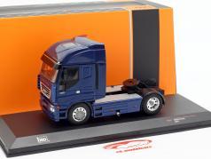 Iveco Stralis vrachtwagen Bouwjaar 2012 blauw metalen 1:43 Ixo