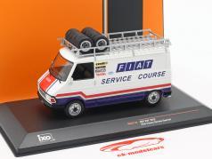 Fiat 242 busje Bouwjaar 1979 Fiat France Rallye Service wit / blauw / rood 1:43 Ixo