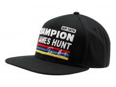 James Hunt Cap Silverstone #11 británico GP campeón del mundo fórmula 1 1976 negro