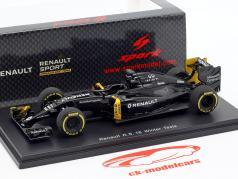 K. Magnussen & J. Palmer Renault R.S.16 vinter test formel 1 2016 1:43 Spark