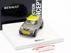 Renault Kwid Concept Car 2015 gris métallique / jaune 1:43 Norev