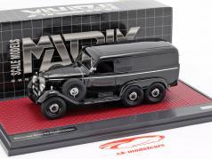 Mercedes-Benz G4 busje (W31) Bouwjaar 1939 zwart 1:43 Matrix