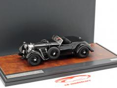 Bentley 8 liters Roadster Open Top Bouwjaar 1932 zwart 1:43 Matrix