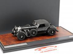 Bentley 8 liters Roadster Closed Top Bouwjaar 1932 zwart 1:43 Matrix