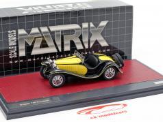 Bugatti T55 Roadster Bouwjaar 1932 geel / zwart 1:43 Matrix