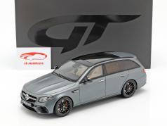 Mercedes-Benz AMG E63 S T-Model année de construction 2017 sélénite gris 1:18 GT-Spirit