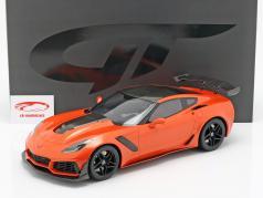 Chevrolet Corvette ZR1 anno di costruzione 2019 Sebring arancione 1:12 GT-Spirit