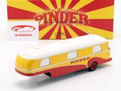 remolque caravana Pinder circo año de construcción 1955 amarillo / rojo / blanco 1:43 Direkt Collections