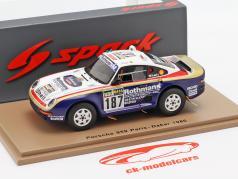 Porsche 959 #187 Rally Parigi - Dakar 1986 Kussmaul, Unger 1:43 Spark