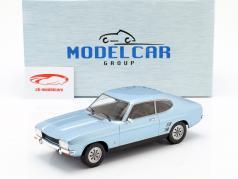 Ford Capri MK I 1600 GT Opførselsår 1973 lyseblå metallisk 1:18 Model Car Group