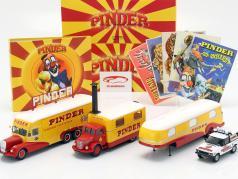 4-Car Set Pinder cirque plus supplémentaire accessoires 1:43 Direkt Collections