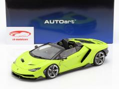 Lamborghini Centenario ロードスター 築 2016 ライト グリーン 1:18 AUTOart
