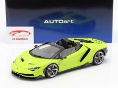 Lamborghini Centenario Roadster anno di costruzione 2016 luce verde 1:18 AUTOart
