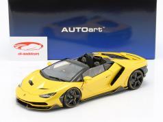 Lamborghini Centenario ロードスター 築 2016 真珠 黄色 1:18 AUTOart