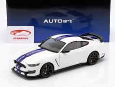 Ford Mustang Shelby GT350R año de construcción 2017 Oxford blanco / azul 1:18 AUTOart