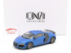 Audi R8 LMX Baujahr 2014 ara blau 1:18 DNA Collectibles