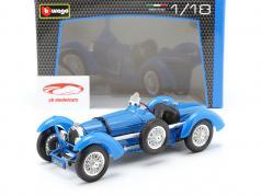 Bugatti Graad 59 Jaar 1934 blauw 1:18 Bburago