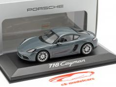 Porsche 718 Cayman år 2016 mørkegrå 1:43 Minichamps